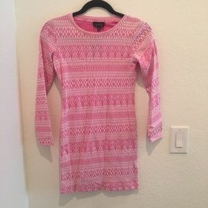 NWT Topshop pink long sleeve mini dress size 4